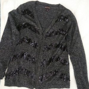 Dana Bachman sweater embellished w/sequins on ft
